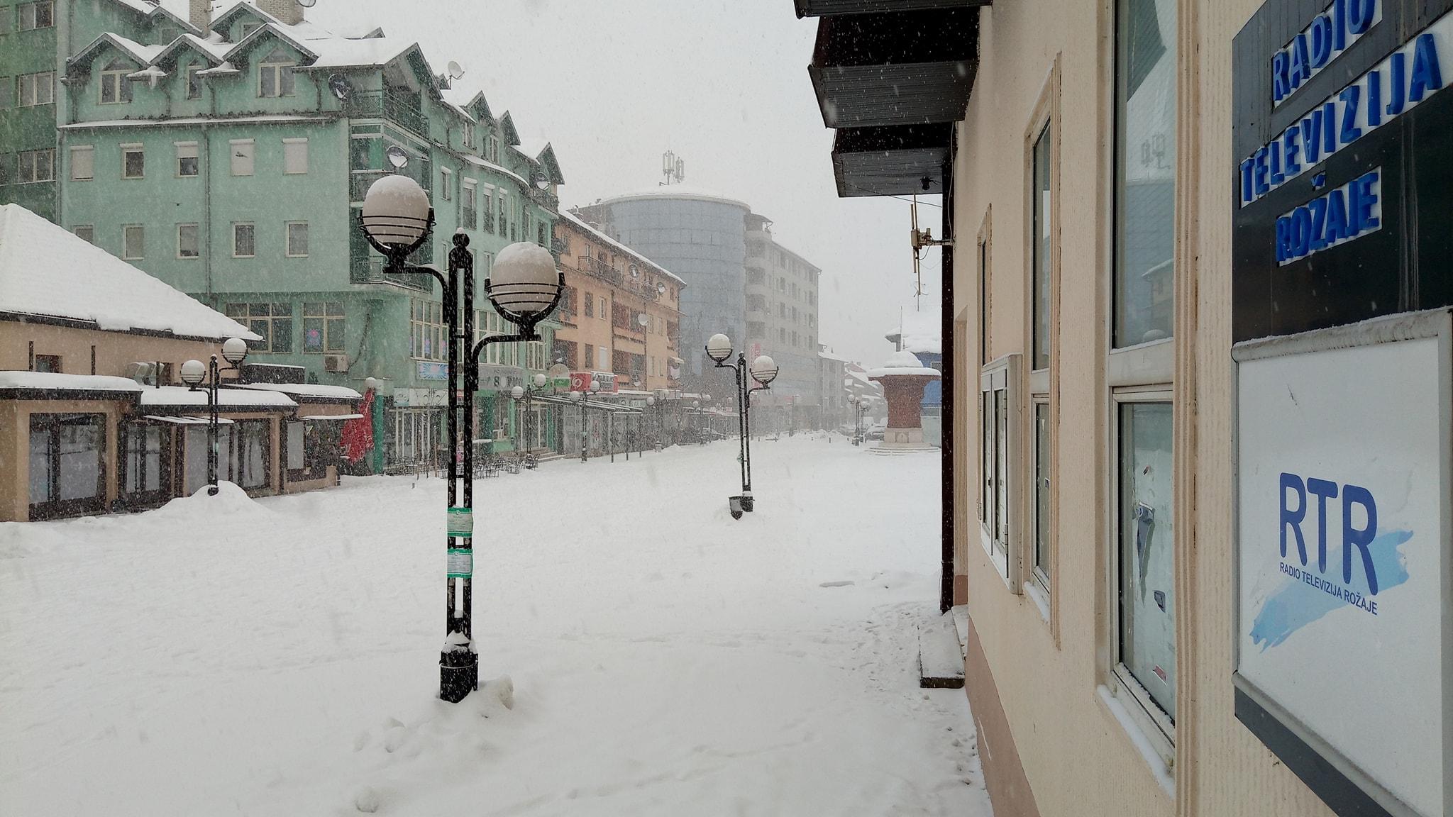 Visina snijega u Rožajama, 68 centimetara